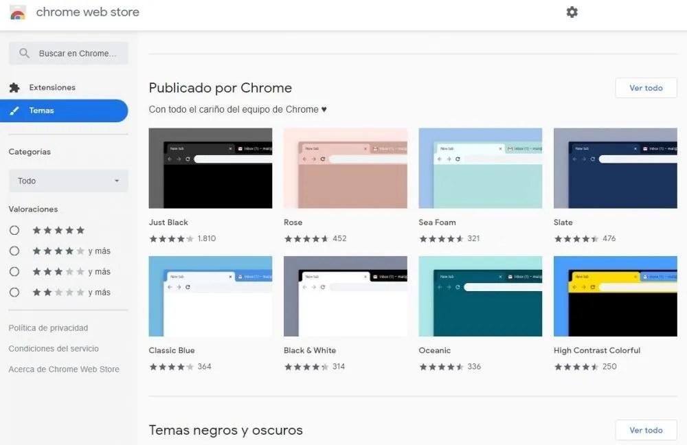 instalar temas en google chrome