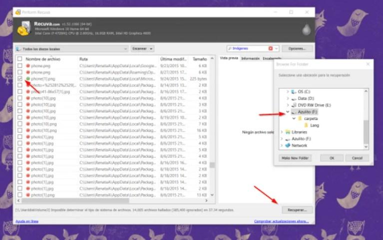 Cómo recuperar archivos borrados del ordenador con Recuva
