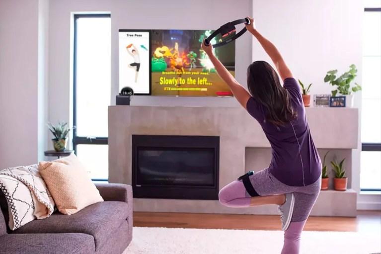 Ring-Fit de Nintendo es uno de los videojuegos para ponerte en forma