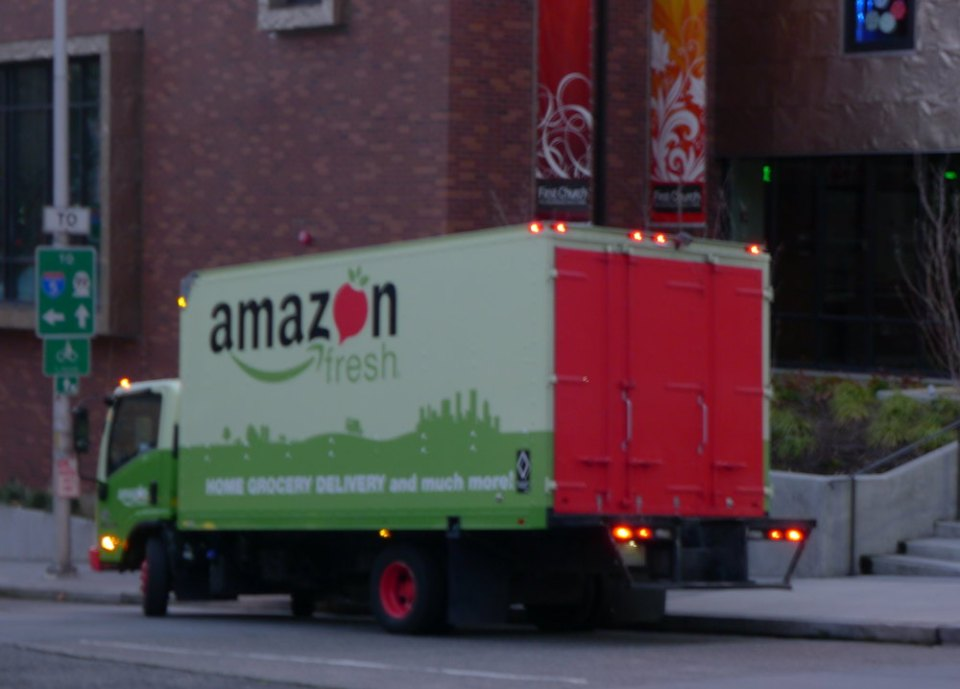Camión de Amazon Fresh