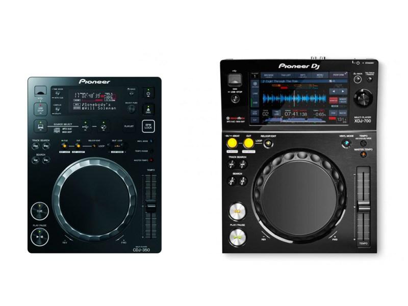 Pioneer-CDJ-350-vs-Pioneer-XDJ-700
