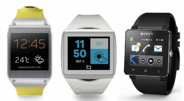Smartwatches Galaxy Gear vs Sony Smartwatch 2