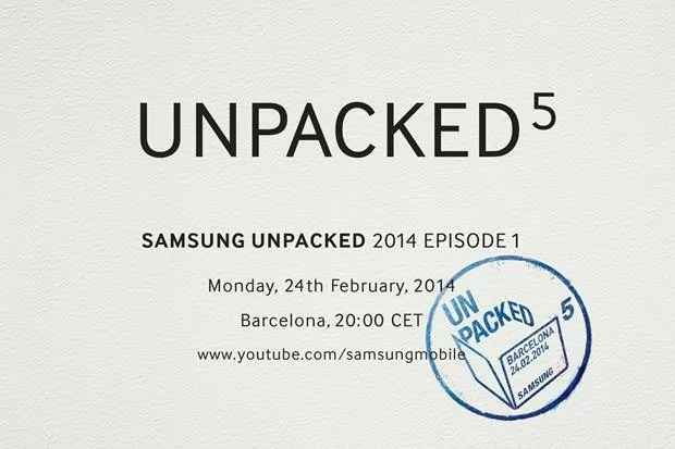 Samsung Unpacked 5 Invitation