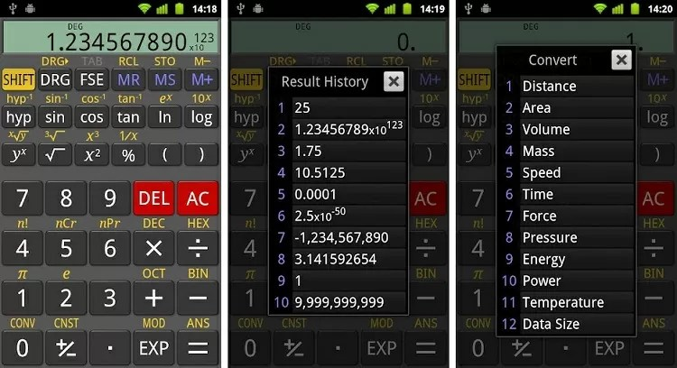 RealCalc Scientific Calculator app