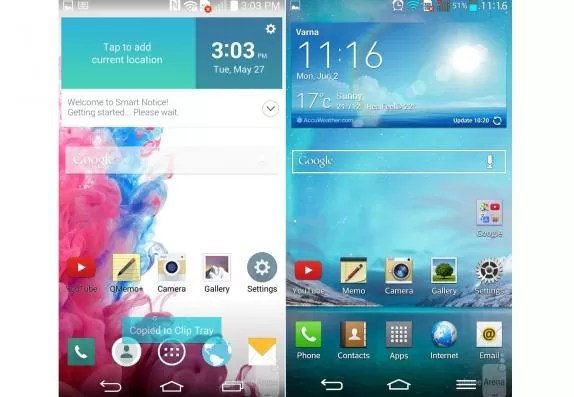 LG G3 interface