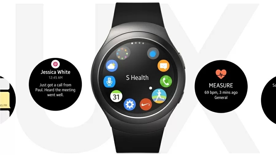Samsung Gear S2 software interface