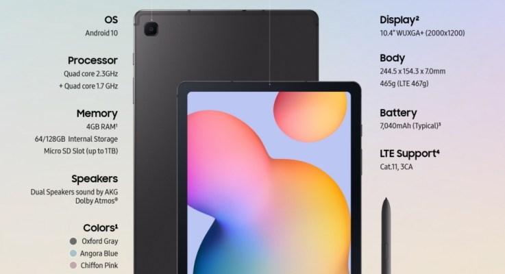 Crea, aprende y relájate con la elegante Galaxy Tab S6 Lite