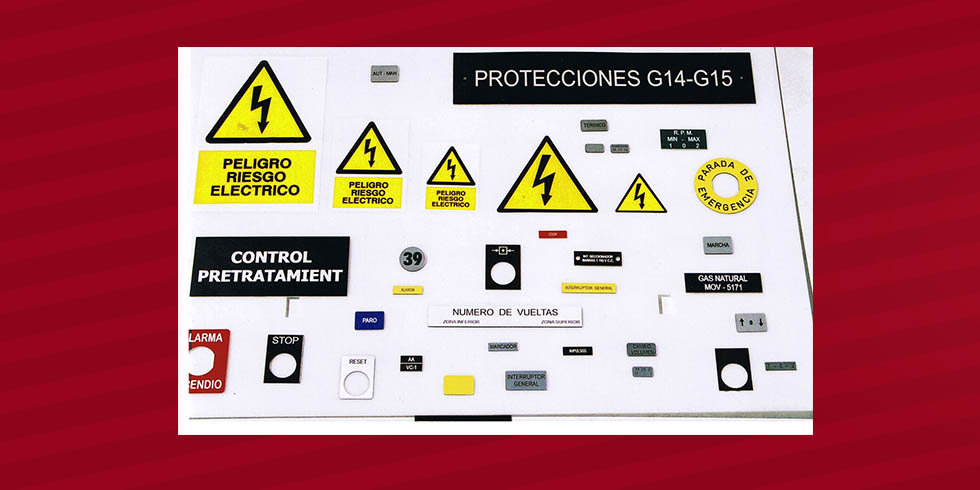 etiquetas cuadros electricos