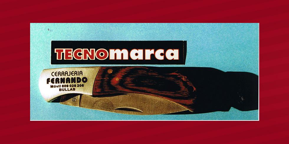 grabado láser acero de navaja Fernando