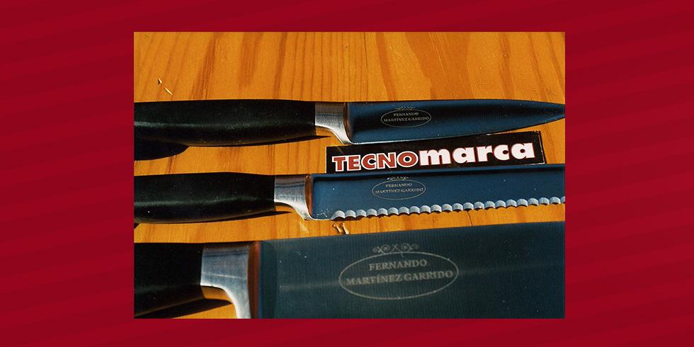 grabado láser acerp cuchillo Fernando