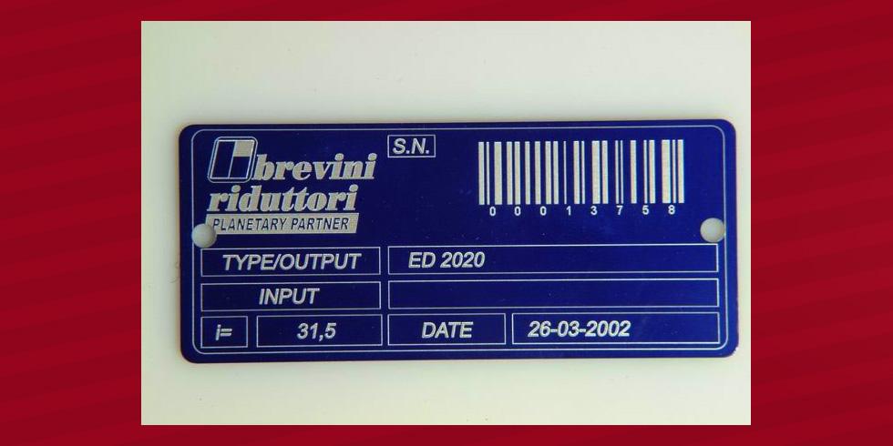 grabado láser aluminio con código de barras