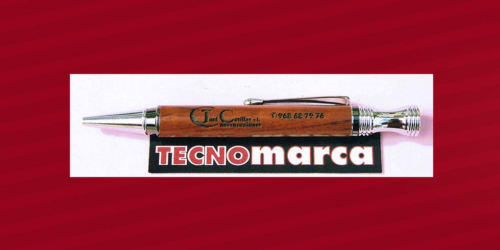 grabado láser bolígrafo madera José Cutillas
