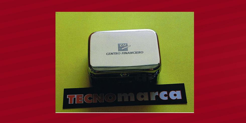grabado láser pastillero CajaMurcia