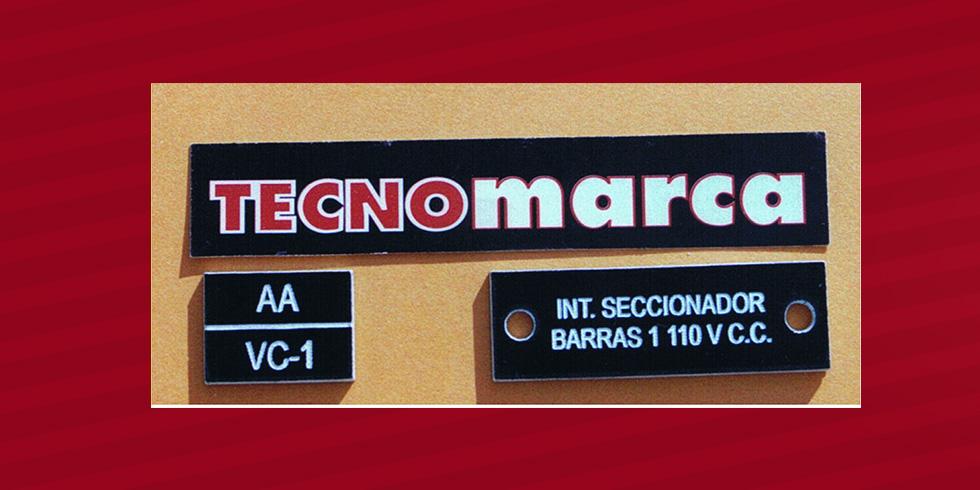 placas grabadas con láser para cuadros eléctricos