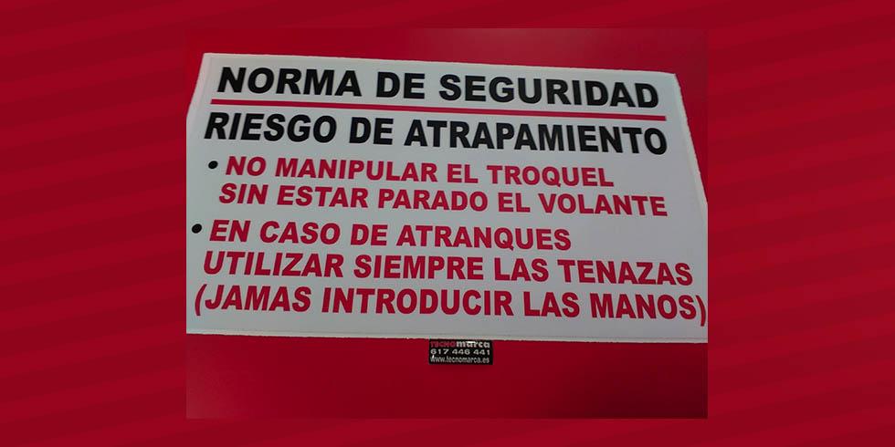 Etiquetas para maquinaria_Norma de seguridad
