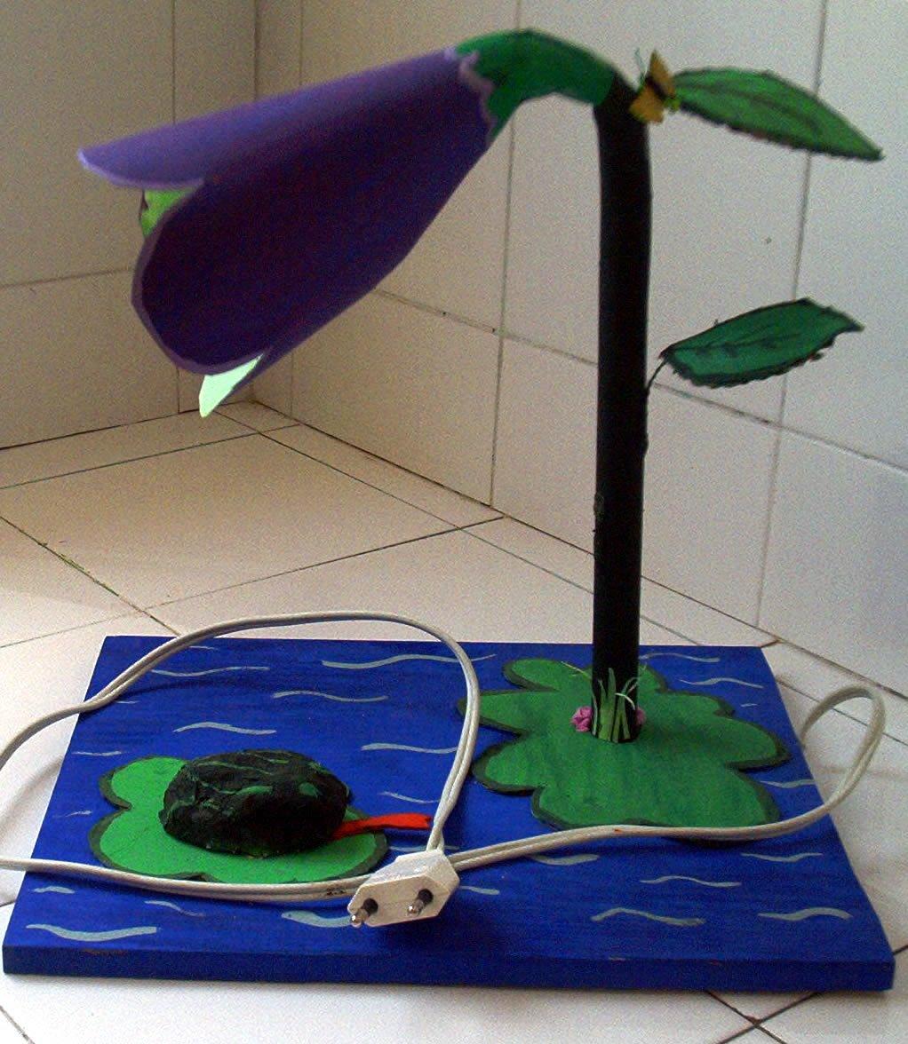 L mparas de escritorio con material reciclado tecnosalva - Como hacer una mesa escritorio ...
