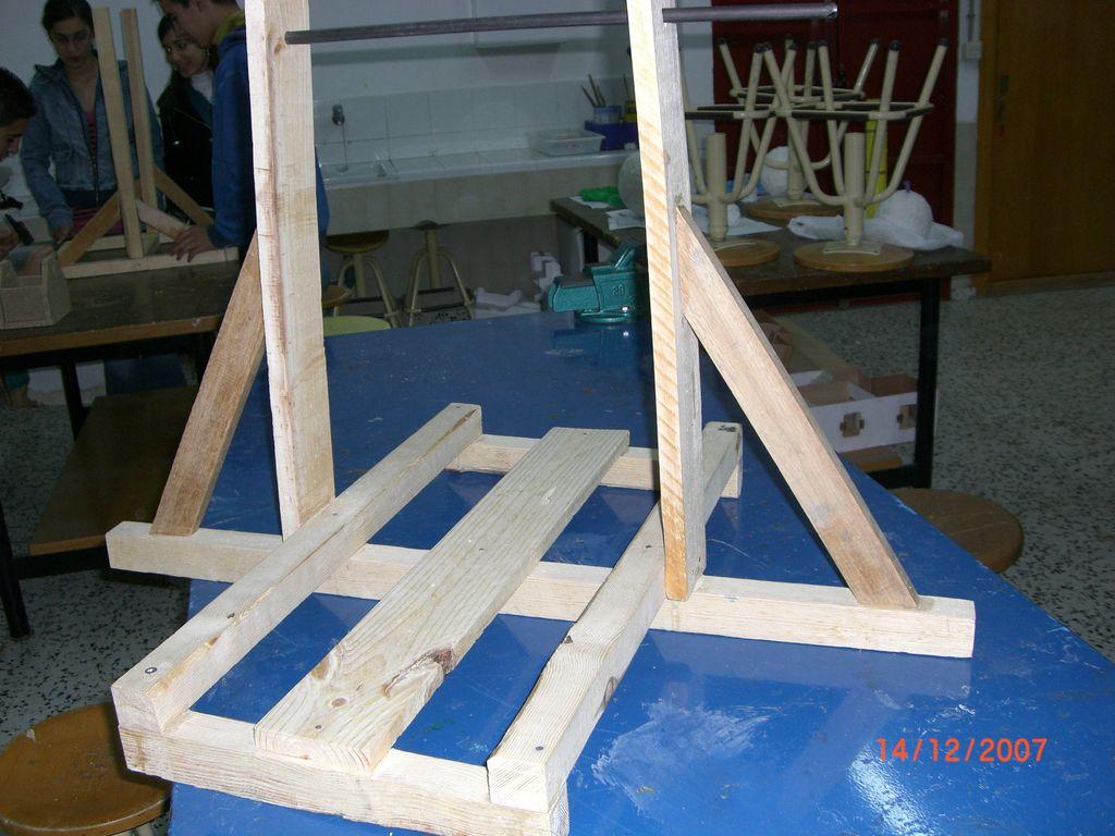 Catapultas trebuchet en construcción 4