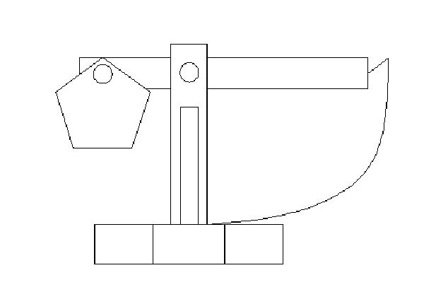 Catapulta trebuchet alzado