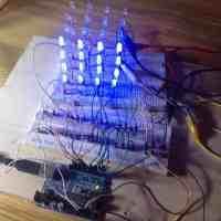 Cómo hacer un cubo de leds 4x4x4 con Arduino