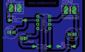 PCB: Creando un plano de masa con Eagle- pcb