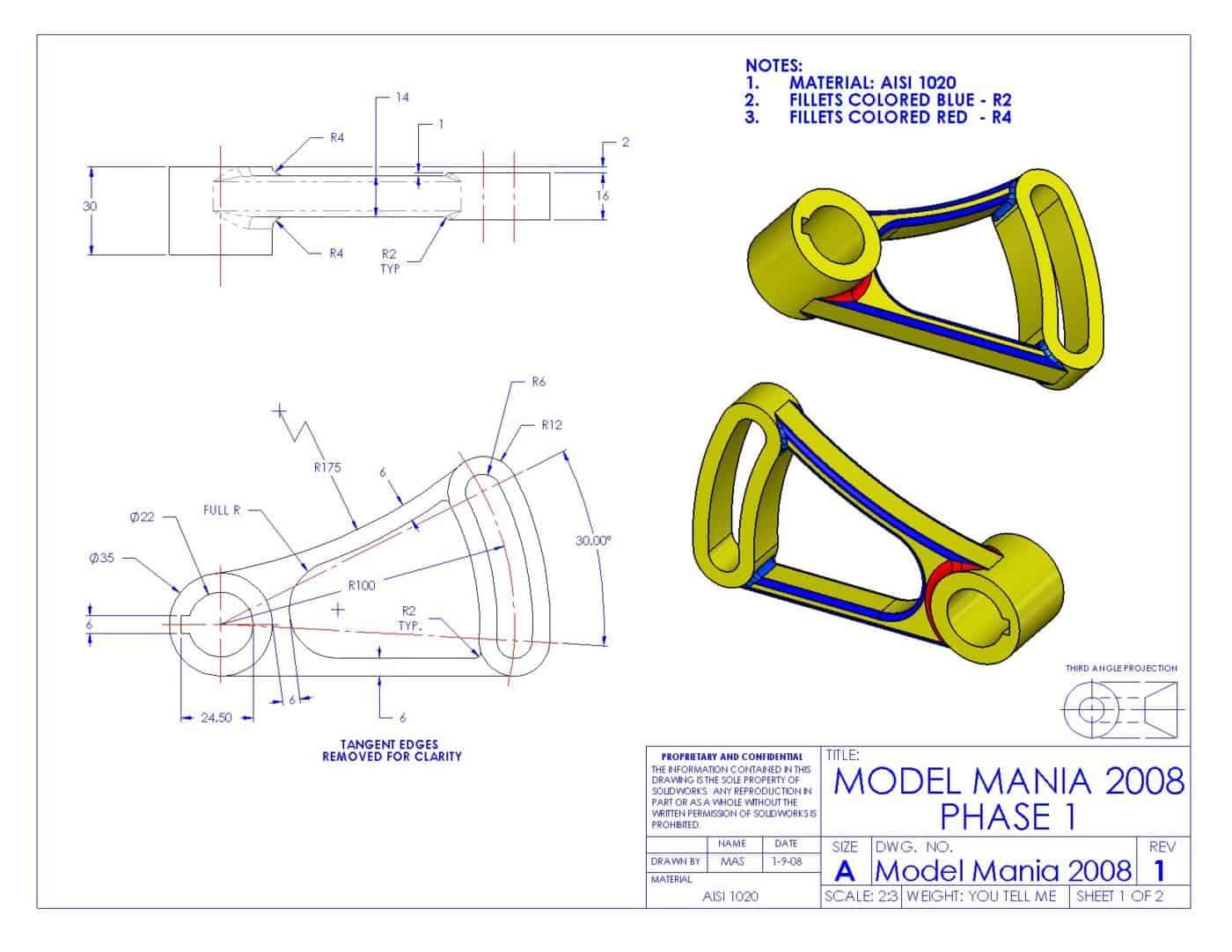 FreeCad pieza 17 model mania 2008