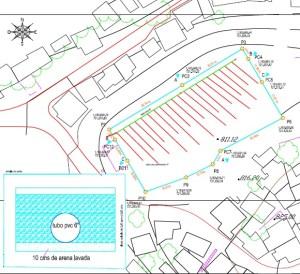 Construcción drenaje de Campo de Fútbol en Urb. Nuevo Horizonte en Catia con Sistema de Césped Sintético. Tecnosports. Proyectista José Alcalá Franco