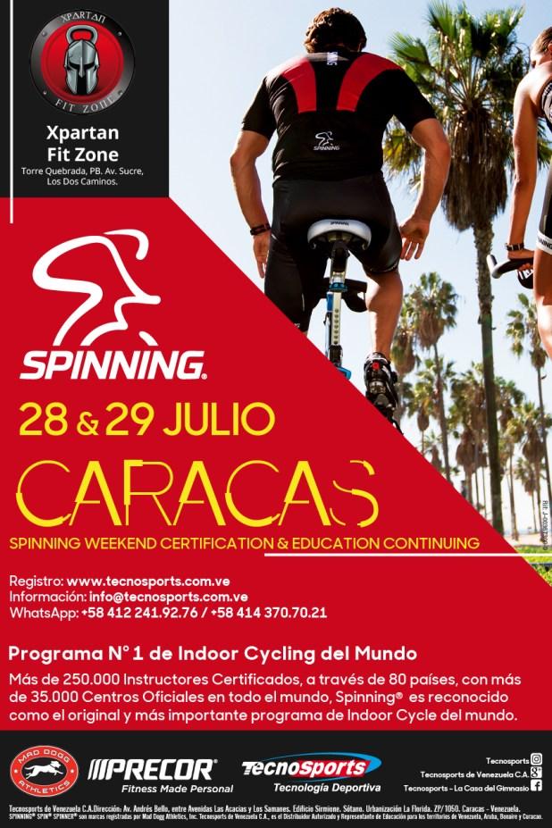 XPARTAN FIT ZONE y el Staff de Educación de TECNOSPORTS® invitan al 1er SPINNING® Weekend con Spinner® Ride (New) de Caracas