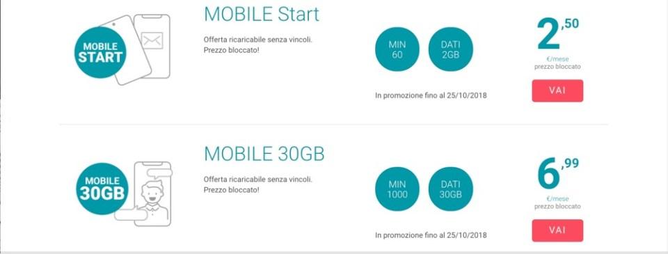 Tiscali offerte Mobile
