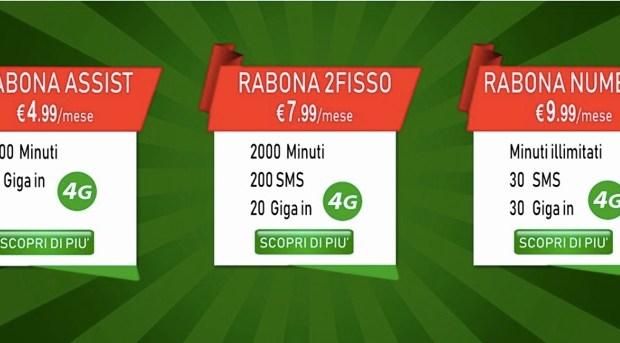 Le offerte Rabona Mobile