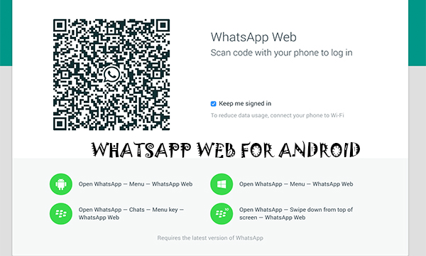 WhatsApp web for android