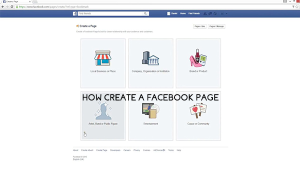 How Create a Facebook Page
