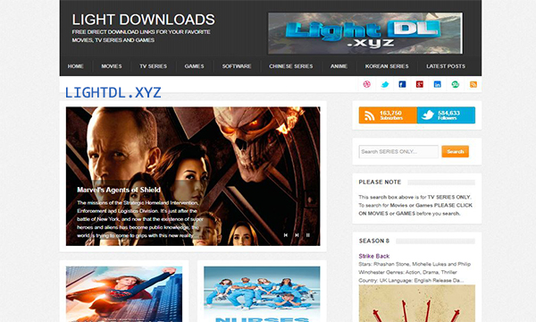 LightDL – Movies, TV Series, Games, Softwares, Anime | Free Download