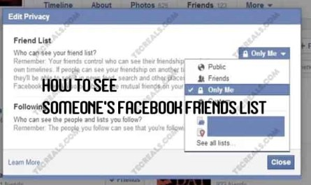 How to See Someone's Facebook Friends List