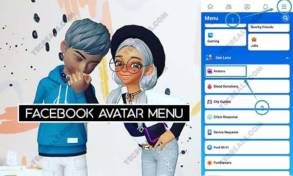 Facebook Avatar Menu