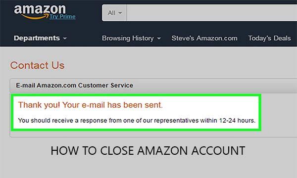 How to Close Amazon Account