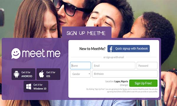 Sign Up MeetMe