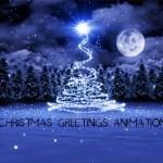 Christmas greetings animation