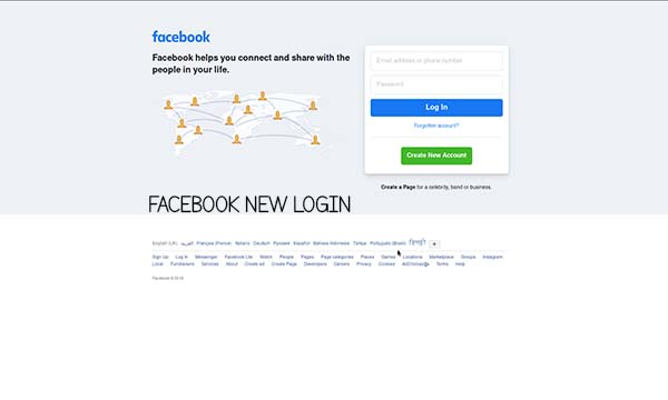 Facebook New Login