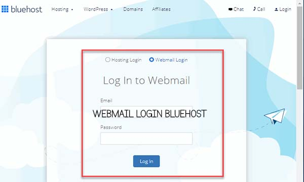 Webmail Login Bluehost
