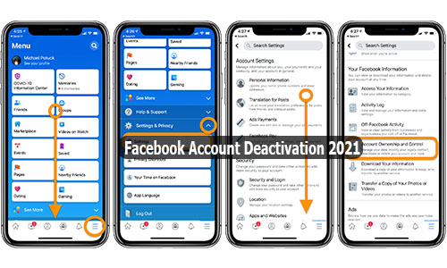 Facebook Account Deactivation 2021 - Deactivate Facebook Account   Delete Facebook Account