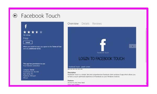 Login To Facebook Touch