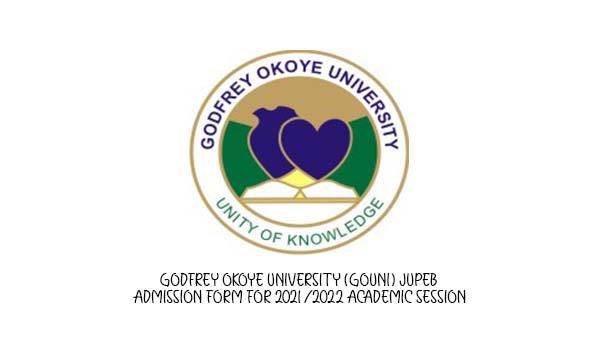 Godfrey Okoye University (GOUNI) JUPEB Admission Form for 2021/2022 Academic Session