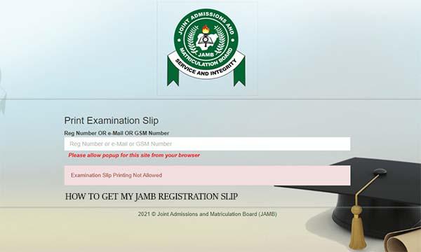 How to Get my Jamb Registration Slip
