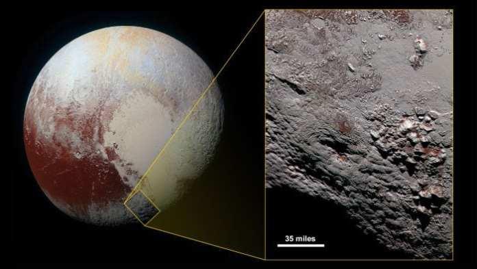 Criovulcão em Plutão (Foto: New Horizon/NASA) nasa Sonda da NASA registra fotos de um possível criovulcão em Plutão nasa
