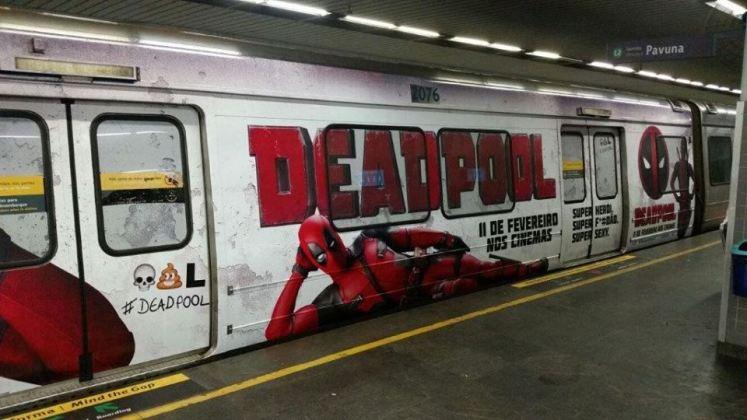 Deadpool deadpool invade metrô no rio de janeiro