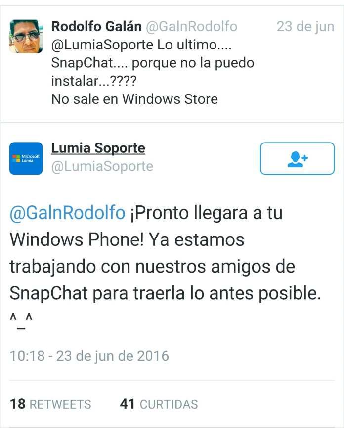 Snapchat microsoft confirma snapchat para windows 10 mobile Microsoft confirma Snapchat para Windows 10 Mobile wp 1467000360264