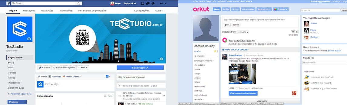 Facebook páginas ganham novo visual no facebook ao melhor estilo 'orkut'