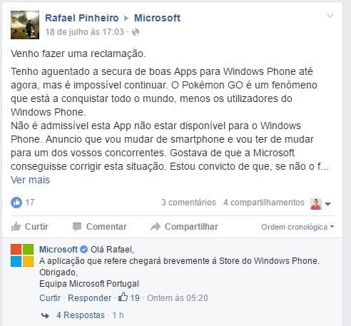 Pokémon Go microsoft afirma que pokémon go chegará para windows phone em breve Microsoft afirma que Pokémon Go chegará para Windows Phone em breve microsoftPokemonGo