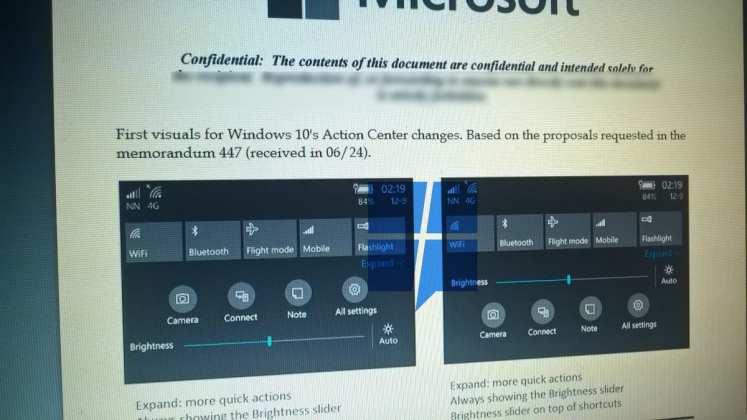 Windows 10 Mobile [rumor] windows 10 mobile terá uma nova central de ações [Rumor] Windows 10 Mobile terá uma nova central de ações notification2