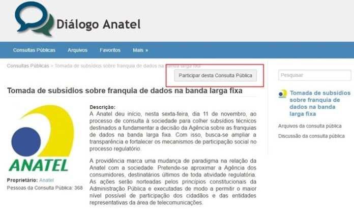 Anatel anatel abre consulta pública para debater limite de internet Anatel abre consulta pública para debater limite de internet anatellimitedeinternet TecMundo
